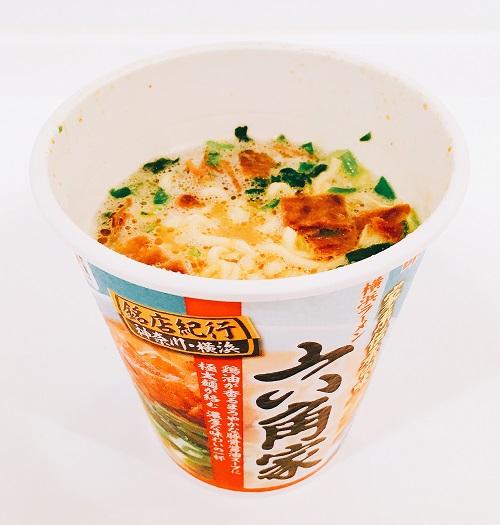 六角家カップ麺の完成写真