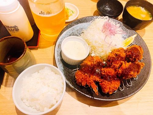 かつれつ亭 二番町店のヒレとカキフライ定食