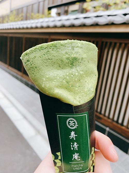 浅草 寿清庵の宇治クレープ
