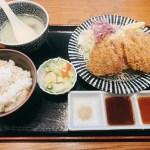 赤身が残る牛肉が印象的☆牛たん伊之助さんの牛かつ定食とモッチリ麦飯!
