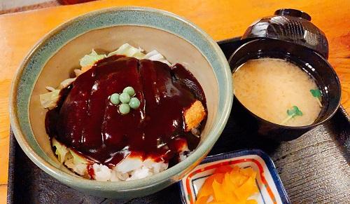 味司 野村(カツ丼 野村)のドミグラスソースカツ丼セット