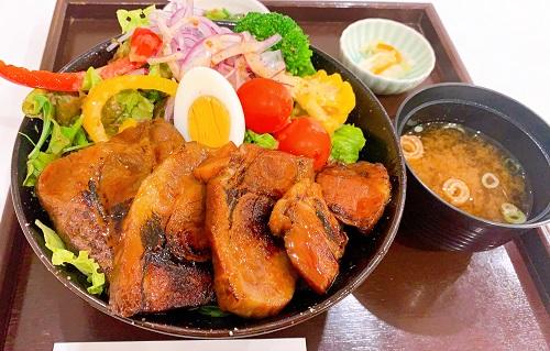 奈良のうまいものプラザのヤマトポークのチャーシュー丼