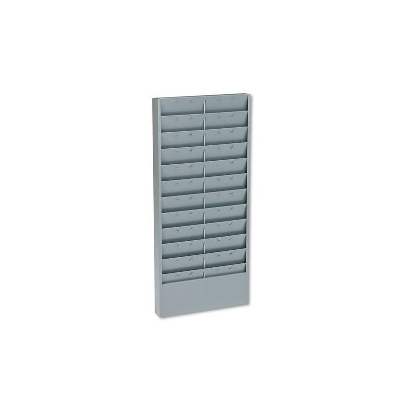 50 slot time card rack plastic wall