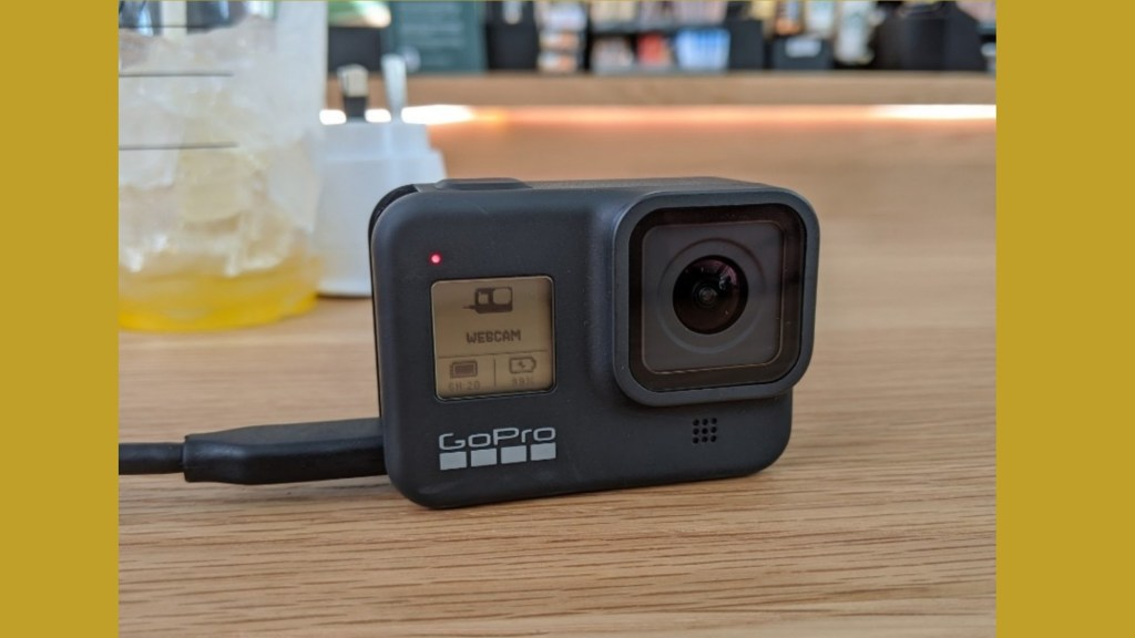 La GoPro Hero 8 Black en mode webcam