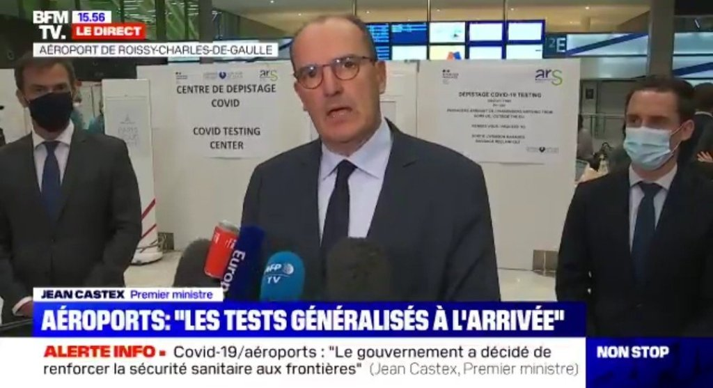France : Un test obligatoire imposé aux voyageurs de 16 pays identifiés