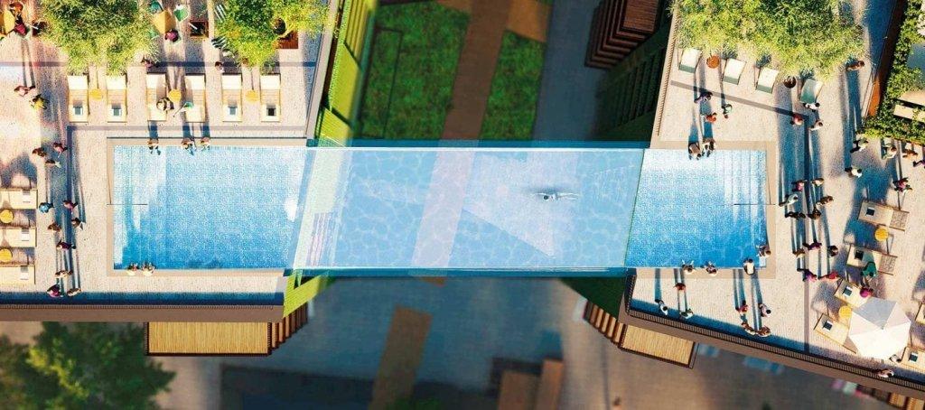 Une piscine suspendue entre deux immeubles va ouvrir à Londres