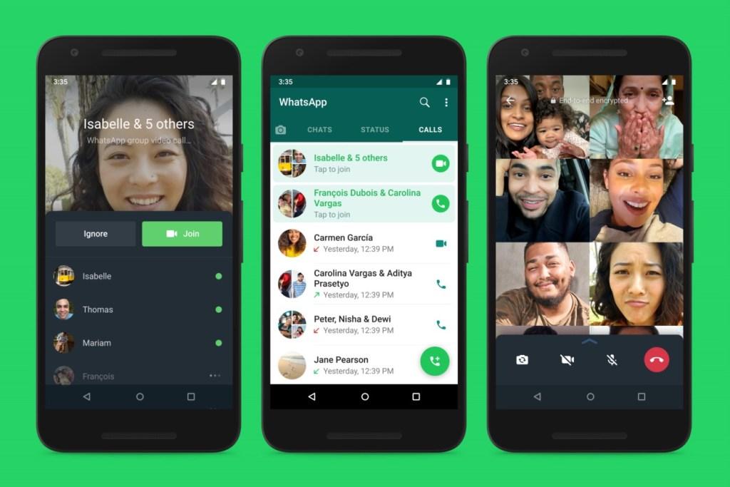 WhatsApp ajoute un moyen de rejoindre des appels de groupe en cours de conversation
