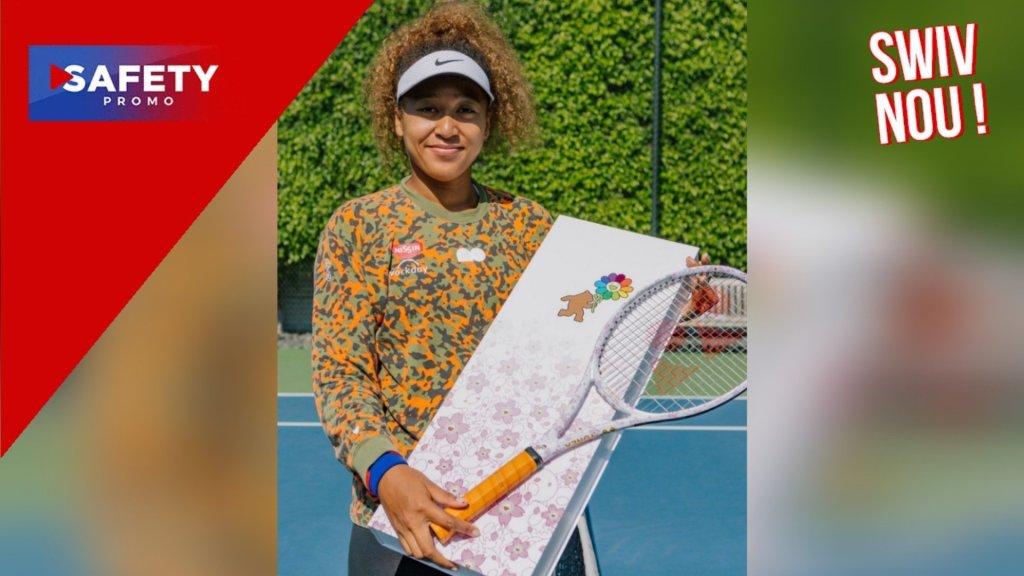Naomi Osaka a dévoilé sur les réseaux sociaux sa propre raquette de tennis
