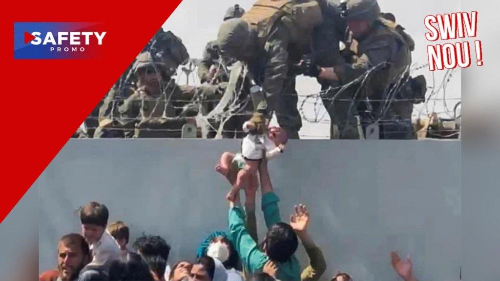Des Afghans qui laissent leur bébé aux soldats américains, la scène est devenue virale
