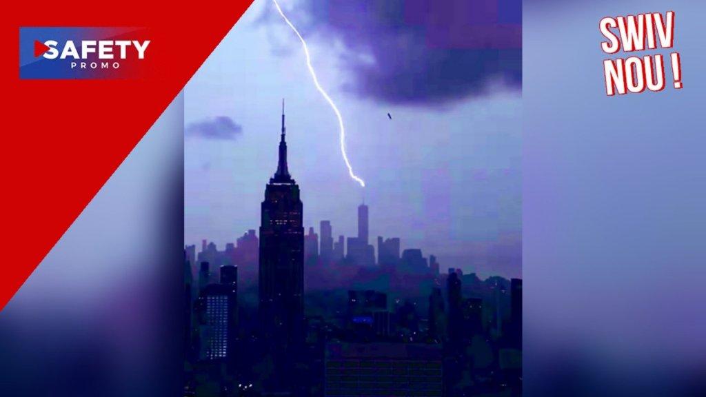 Tempête Henri: la foudre frappe le One World Trade Center à New York