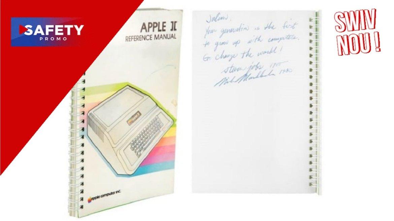 #Apple : un manuel de l'Apple II signé par Steve Jobs vendu 787 484 dollars aux enchères !