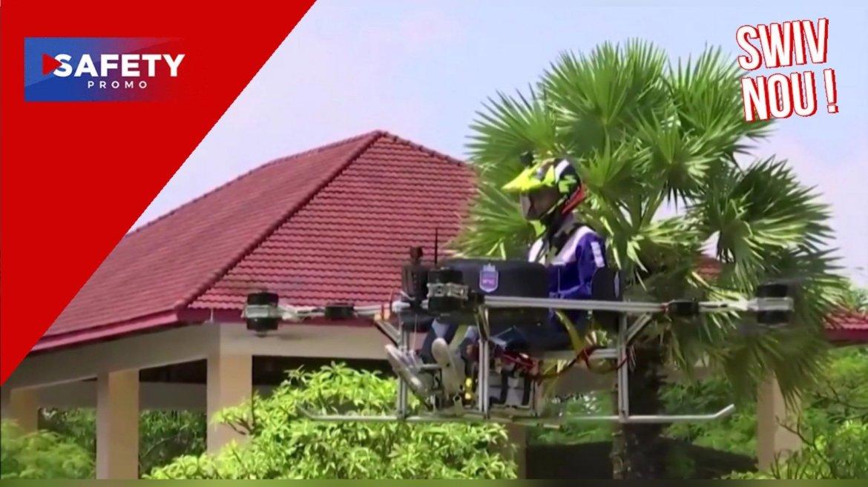 Cambodge : Des étudiants imaginent le premier drone capable de transporter un humain