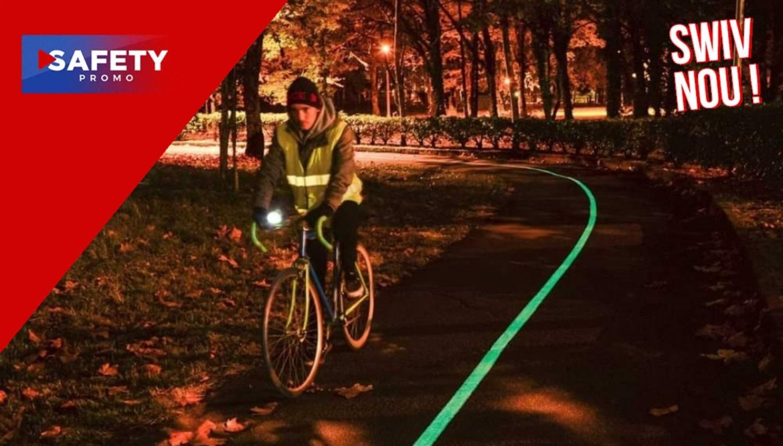 Cette route solaire peut briller pendant 10 heures la nuit pour éclairer les cyclistes