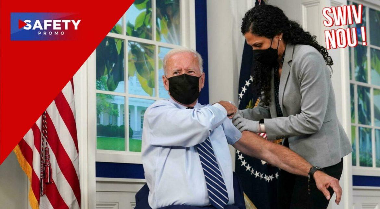 Joe Biden a reçu sa troisième dose de vaccin