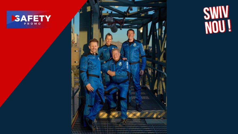 William Shatner, le capitaine Kirk de « Star Trek », a réalisé un court voyage dans l'espace