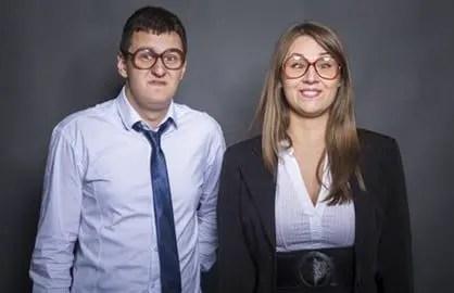 Nerd business couple