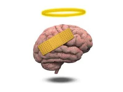 Hurt brain with halo
