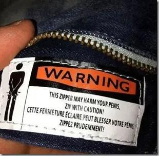 ziper harm penis