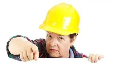 Construction Worker Warning