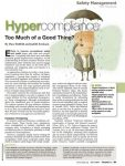 The Regression of Safety and the Dangers of Hypercompliance