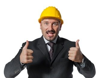 man with helmet at work