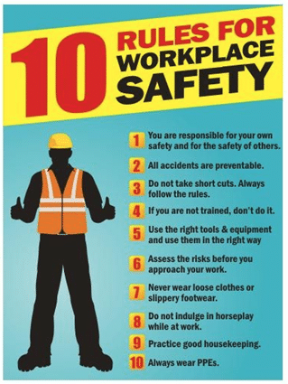 10 commandments safety