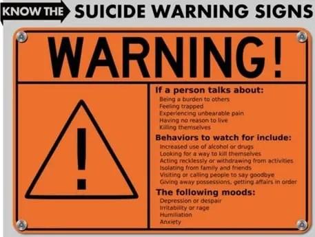 suicide warning