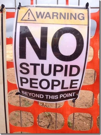 no stupid people