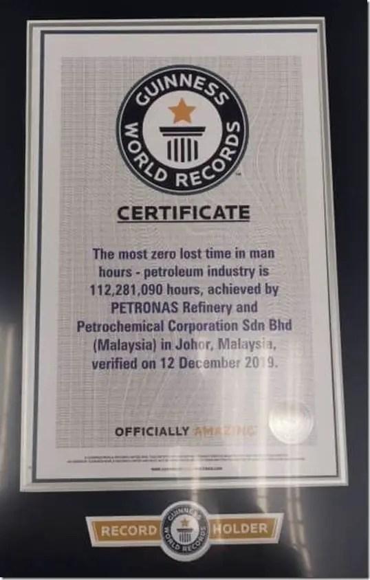 world recored