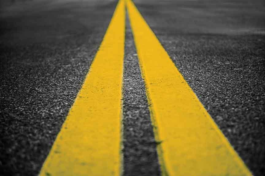 Дорожная разметка сигнальная разметка уличной территории