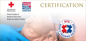 Certification- American Red Cross and American Health and Safety Institute
