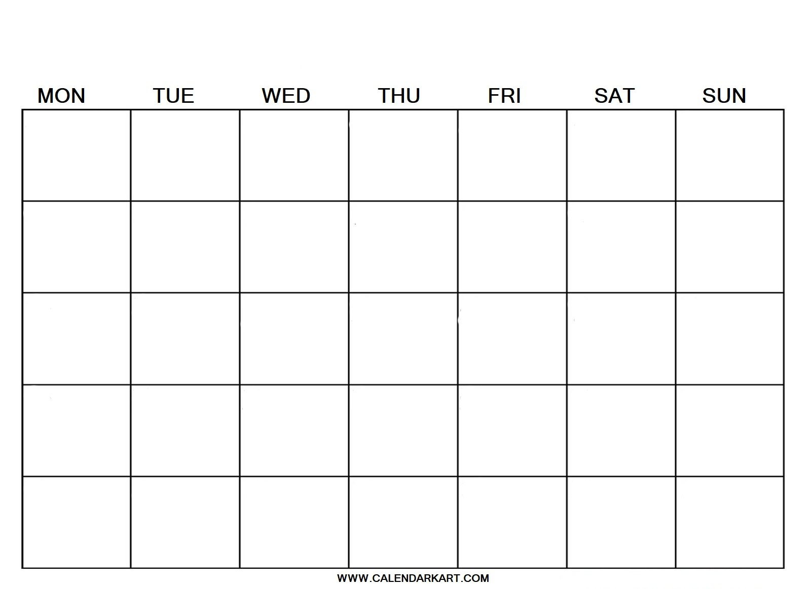 Download and print this blank 2021 monthly calendar template with easy to write in large boxes in landscape layout. Free Printable Calendar Templates Fillable - Example ...