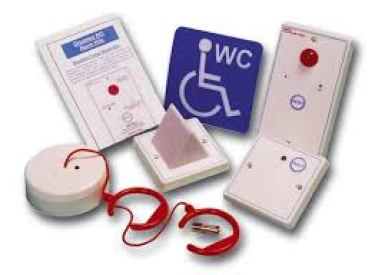 Disabled toilet alarm system testing