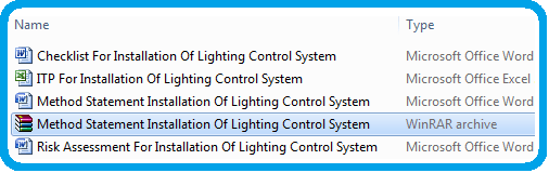 Method Statement For Installation Of Lighting Control System