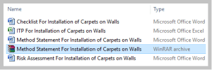 Method Statement For Installation of Carpets on Walls