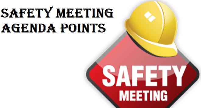 To publicise issues to staff. Health And Safety Meeting Agenda