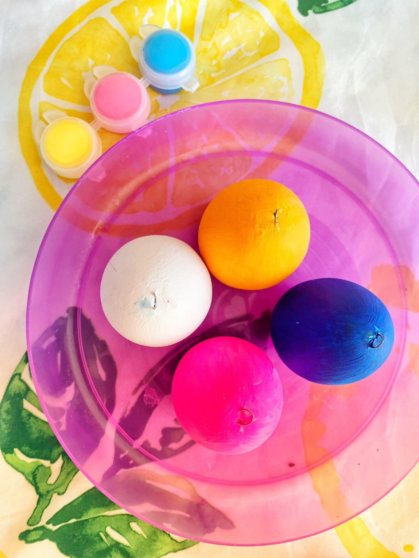 Colouring eggs for Easter