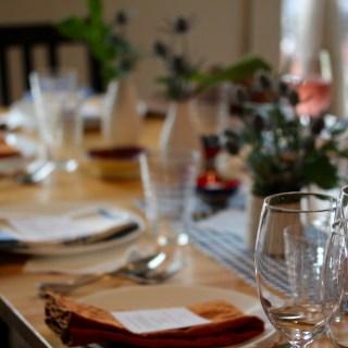 Thanksgiving menu prep