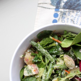 spring potato and green bean salad