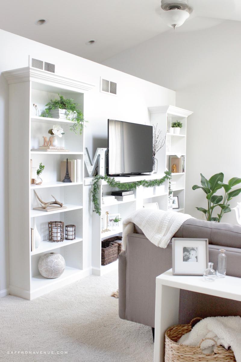 Our Ikea Hack Diy Built In Bookcase Saffron Avenue