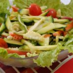 simple green salad with basil vinaigrette