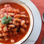 middle eastern white beans with sweet bell pepper pilaf