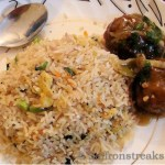 fried rice and veg manchurian for the desi chinese