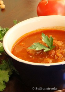 chickpea soup with Harissa