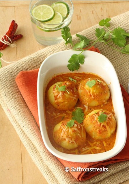 baked potato kofta curry