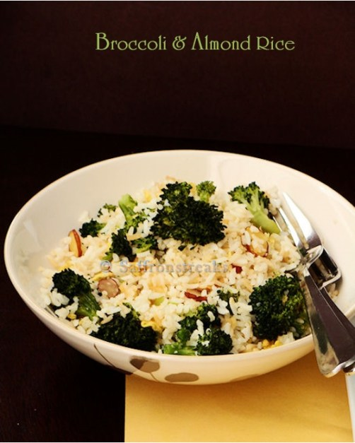 broccoli almond rice