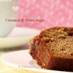 Apple cinnamon tea cake with brown sugar crumb topping