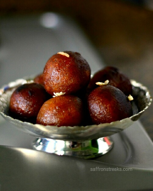 sweet potato gulab jamuns