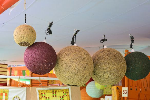 banana fibre lamps