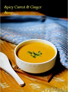 spicy carrot ginger soup